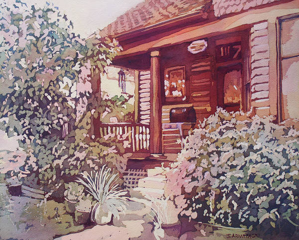 Painting - Oregon City Porch by Jenny Armitage