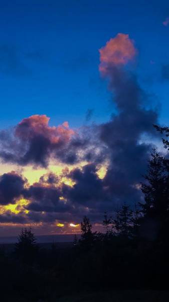 Oregon Coast Clouds Art Print