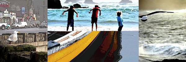Photograph - Oregon Coast Collage by Jerry Sodorff