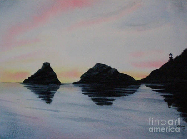 Painting - Oregon Coast by Lynn Quinn