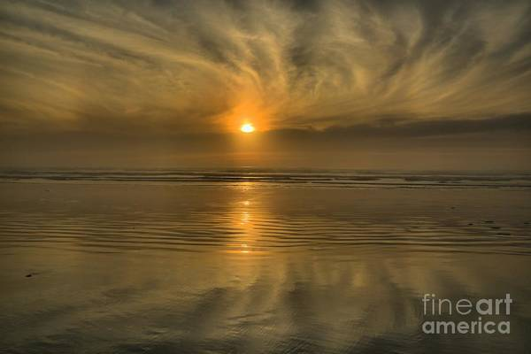 Photograph - Oregon Coast Sunset by Adam Jewell