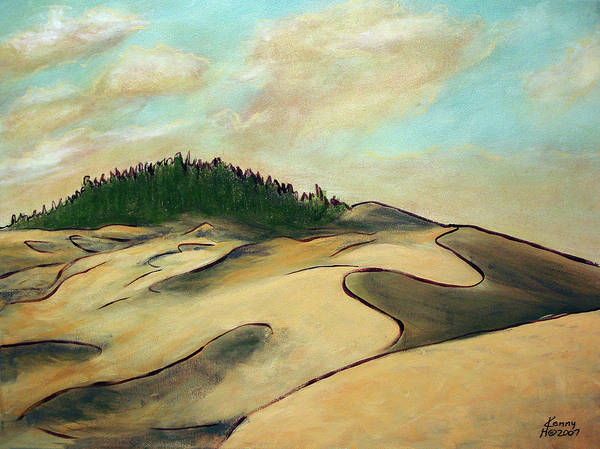 Oregon Sand Dunes Mixed Media - Oregon Dunes by Kenny Henson