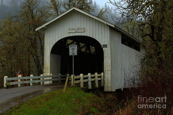 Photograph - Oregon Harris Covered Bridge by Adam Jewell