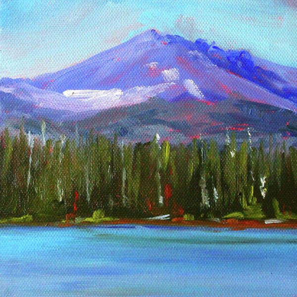 Wall Art - Painting - Oregon Lake View by Nancy Merkle