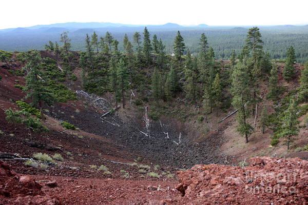 Photograph - Oregon Landscape - Crater At Lava Butte by Carol Groenen