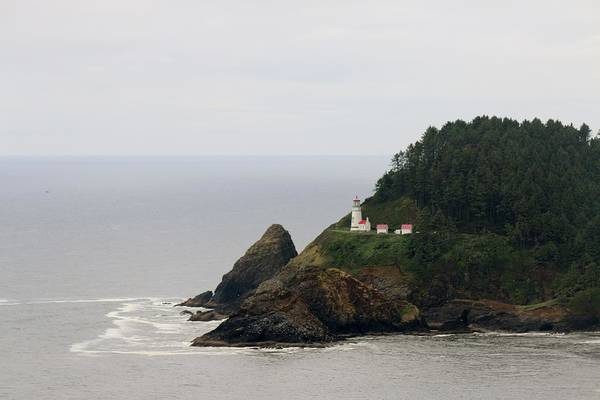 Photograph - Oregon Lighthouse - 1 by Christy Pooschke