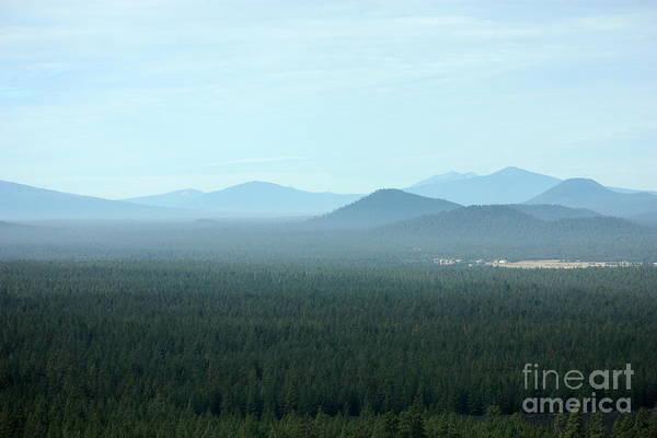 Oregon Ridge Photograph - Oregon Misty Mountains by Carol Groenen