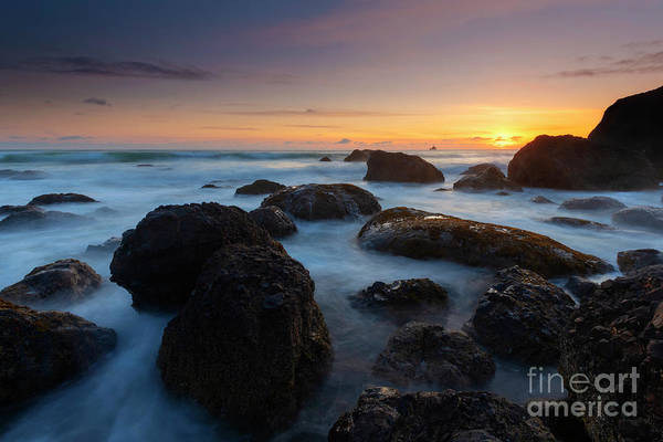 Wall Art - Photograph - Oregon Sunset Boil by Mike Dawson