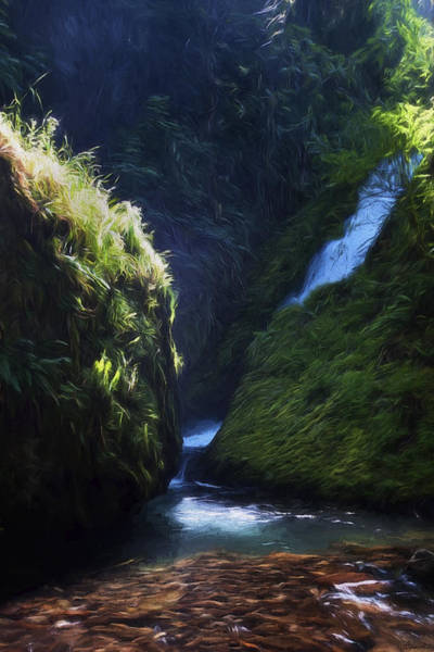 Painting - Oregon Waterfall by Joe Sparks