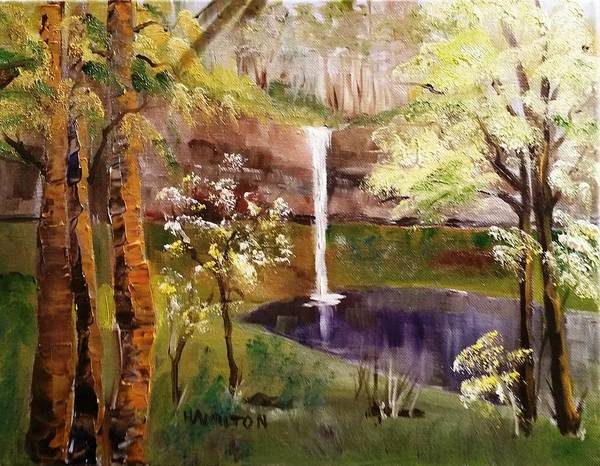 Painting - Oregon Waterfall by Larry Hamilton