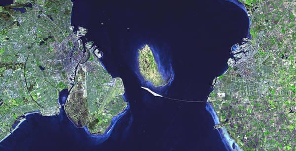Photograph - Oresund Bridge From Denmark To Sweden by Artistic Panda