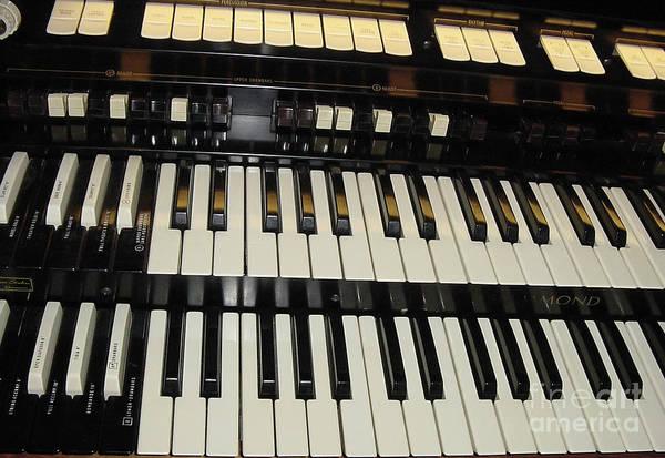 Photograph - Hammond Organ Keys by Donna L Munro