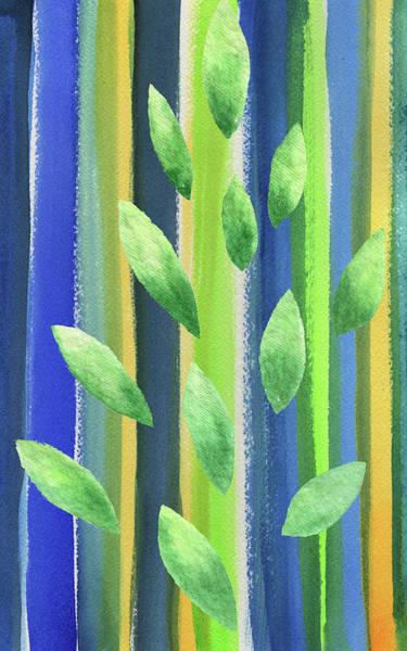 Painting - Organic Abstract Watercolor Forest I  by Irina Sztukowski