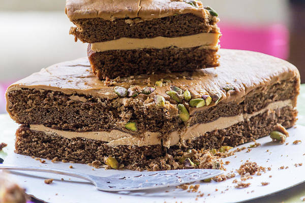 Photograph - Organic Coffee And Pistachio Cake A by Jacek Wojnarowski