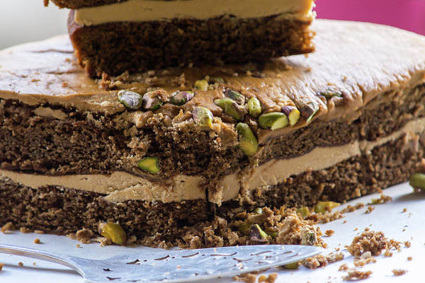 Photograph - Organic Coffee And Pistachio Cake B by Jacek Wojnarowski