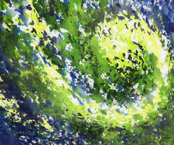 Sponge Painting - Organic Curve Abstract Watercolor by Irina Sztukowski