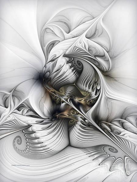 Wall Art - Digital Art - Organic Spiral Tower Construction by Karin Kuhlmann