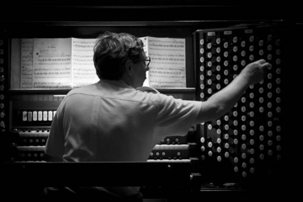 Photograph - Organist Rehearsing by Jenny Setchell