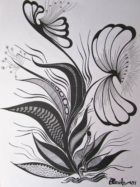 Drawing - Organza by Rosita Larsson
