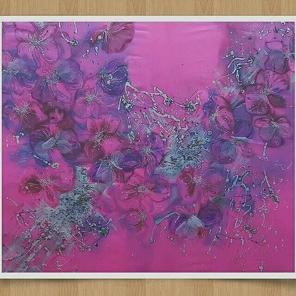 Acrilic Painting - Orhids by Natali Sokolova