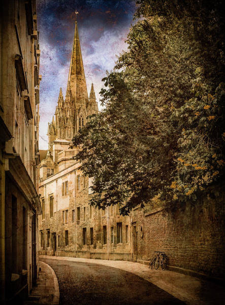 Photograph - Oxford, England - Oriel Street by Mark Forte