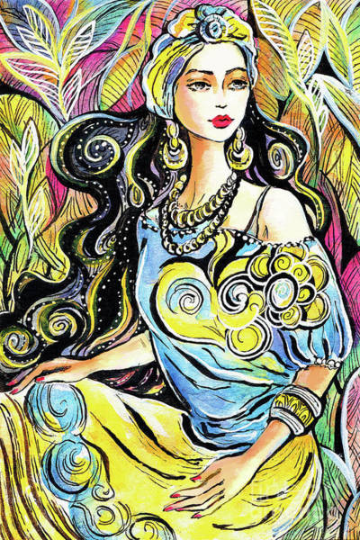 Painting - Orient Enchantress by Eva Campbell