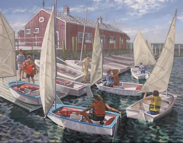 Painting - Orient Point Sailing by Gary M Long