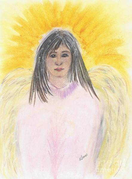Drawing - Oriental Angel by Karen Jane Jones