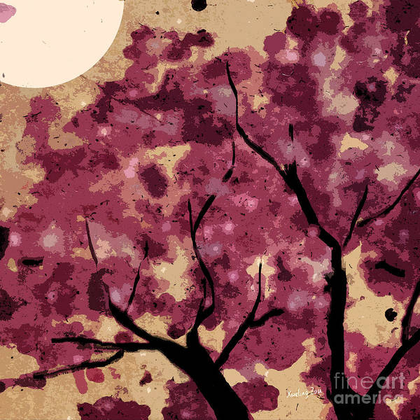Mixed Media - Oriental Plum Blossom by Xueling Zou