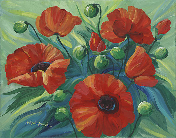 Painting - Oriental Poppies by Linda Rauch