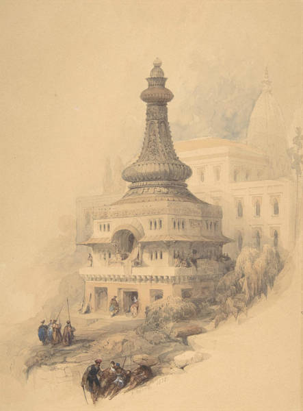 Drawing - Oriental Scene by David Roberts