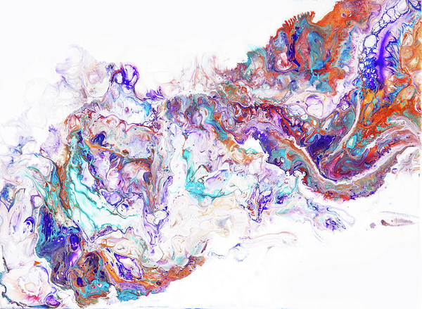 Photograph - Oriental Treasures.  Abstract Fluid Acrylic Painting by Jenny Rainbow