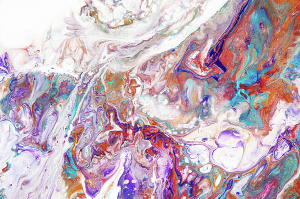 Wall Art - Painting - Oriental Treasures Fragment 3. Abstract Fluid Acrylic Painting by Jenny Rainbow
