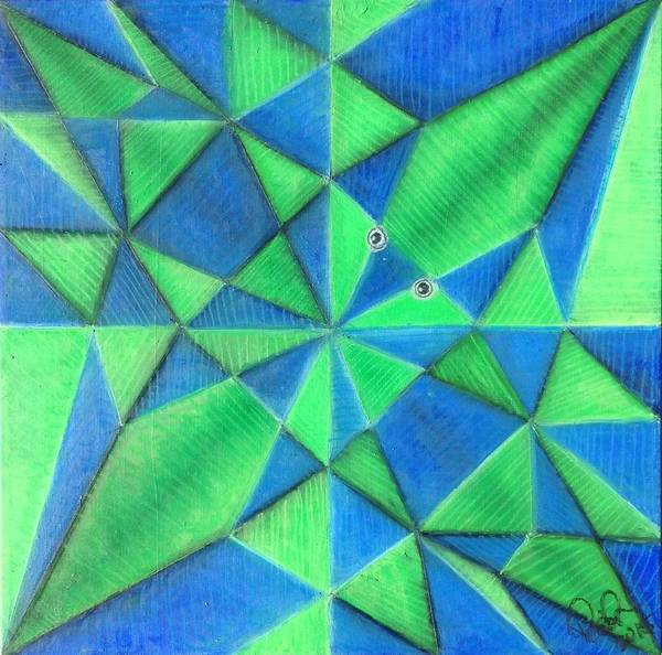 Origami Painting - Origami Fish Pattern by Regina Jeffers