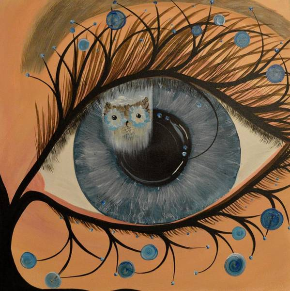 Painting - Original Acrylic Artwork By Mimi Stirn - Hoomasters Collection Hoodali #412 Mimi's Self Portrait by MiMi  Stirn