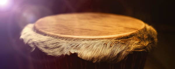 Wall Art - Photograph - Original African Djembe Drum With Leather Lamina With Beautiful  by Jozef Klopacka