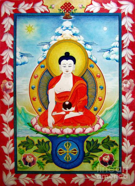 Drawing -  Shakyamuni Buddha by Alexa Szlavics