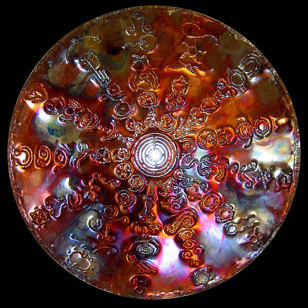 Digital Art - Original Copper Lightmandala Antares Radial Matrix by Robert Thalmeier