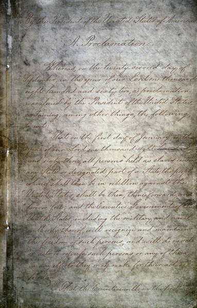 Wall Art - Photograph - Original Emancipation Proclamation  1863 by Daniel Hagerman