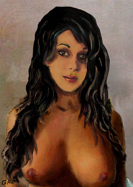 Painting - Original Fine Art Nude Jean Portrait 1d by G Linsenmayer