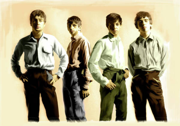Painting - Original Punk The Beatles by Iconic Images Art Gallery David Pucciarelli