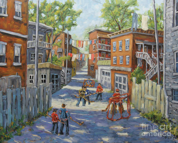 Wall Art - Painting - Original Six Back Lanes  by Richard T Pranke