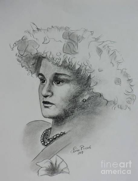 Hairdo Drawing - Original Style by Lise PICHE