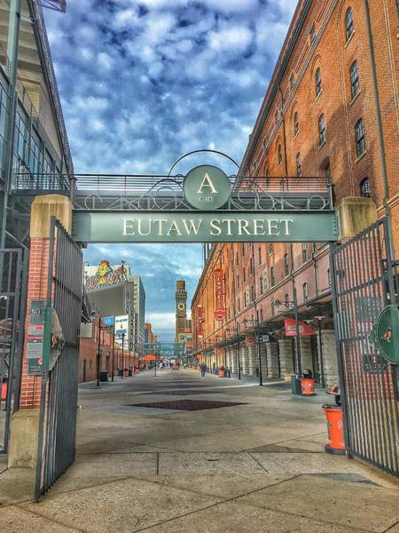 Oriole Photograph - Oriole Park At Camden Yards - Eutaw Street Gate by Marianna Mills