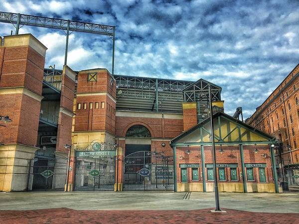 Oriole Photograph - Oriole Park At Camden Yards Gate by Marianna Mills