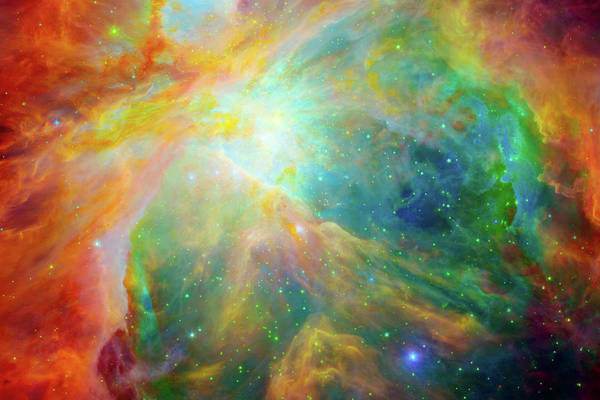 Orion Digital Art - Orion Nebula Messier 42  M42  Ngc 1976  by Ram Vasudev