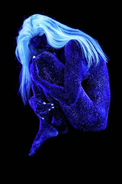 Blacklight Photograph - Orion's Blue Lady - Light by John Poppleton