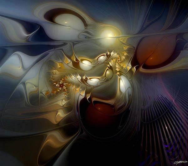 Orion Digital Art - Orion's Pursuit by Casey Kotas
