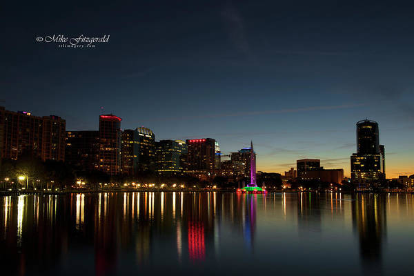 Photograph - Orlando Beautiful Lake Eola Sunset by Mike Fitzgerald