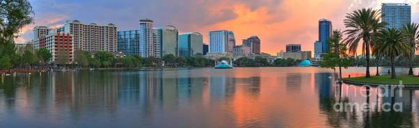 Photograph - Orlando Cityscape Sunset by Adam Jewell
